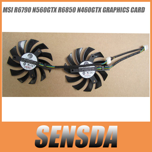 high quality Wholesale Power Logic PLD08010S12HH 12V 0.35A 5mm Graphics Video Card VGA Fan Replacement GTX460 2WIN GTX 560(China (Mainland))