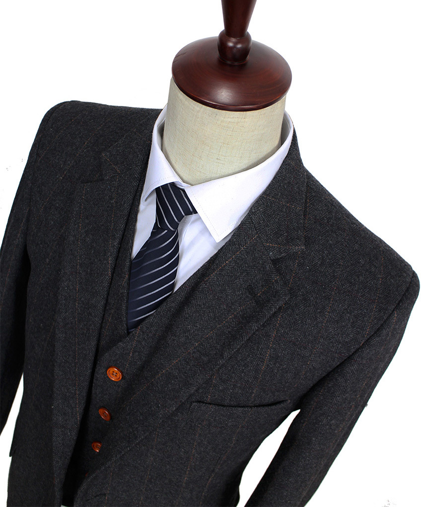 Pour hommes r 233 tro gentleman style custom made hommes 3 pi 232 ce costume