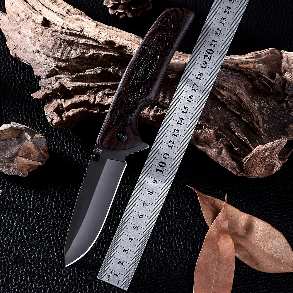 New High Quality Outdoor Survival Camping Knife Wood Handle Cold Steel Hunting Folding Blade Tactical Knives Navajas(China (Mainland))