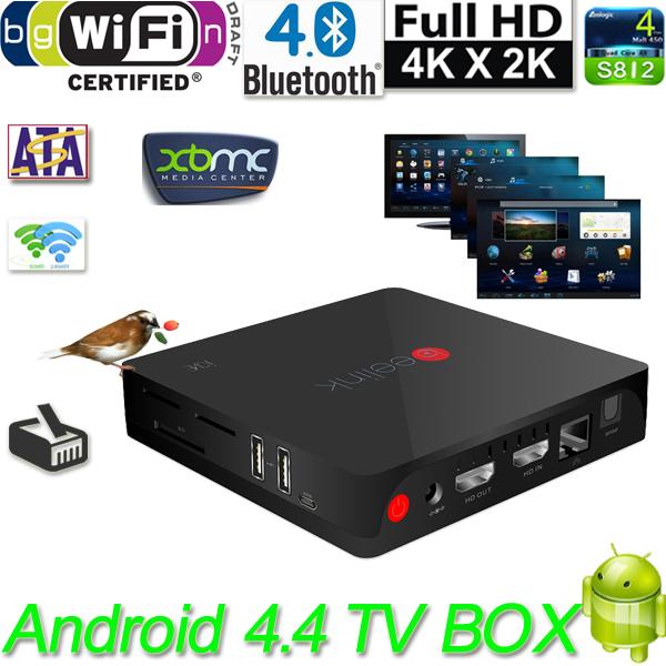 Телеприставка 4 K * 2 K cortex/a9 2G /16G beelinK i826 Amlogic S812 XBMC Eshare DLNA OTG Bluetooth 4.0 4.4 TV Box q amlogic s812 2g 16g kodi tv box