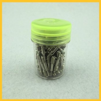 Free Shipping 100 Pcs Spare Pins spring pusher Spare Pins For Band Link Remover Watch Tools GJBP0067