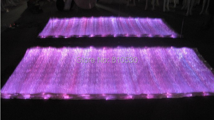 Novelty LED lighting fabric fiber optical fabric glowing in the dark material RGB changeable colors special fabric(China (Mainland))