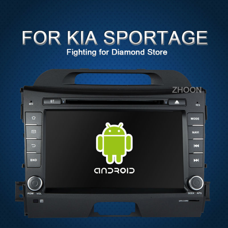 KIA sportage r/Sportage 2010 2011 2012 2013 in dash pure android 4.2 car dvd gps player 2 din 8 inch gps car radio video player(China (Mainland))
