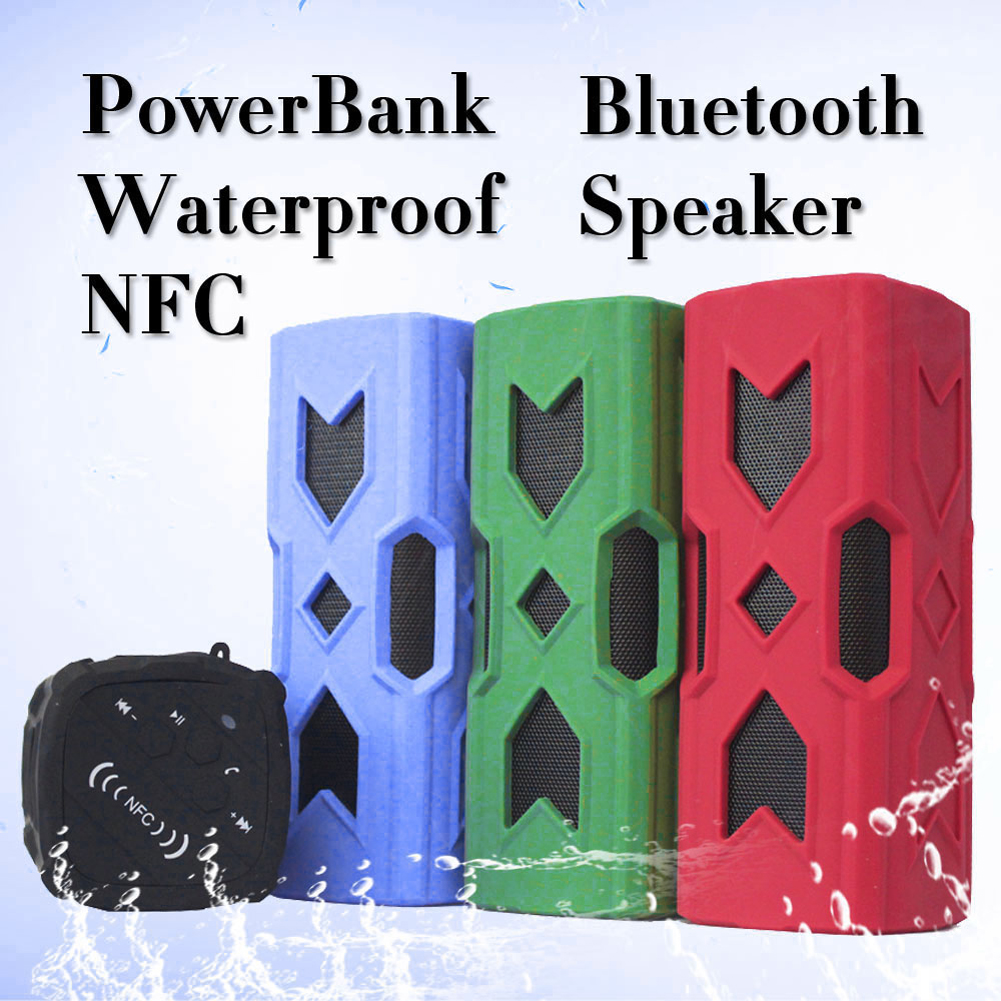 Wireless Bluetooth Speaker 3.5mm Jack NFC Waterproof Subwoofer Sound Box Portable Music Player Power Bank Best Selling EL6257 - eChange 3C GROUP CO., LTD store