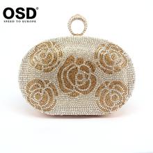 2016 Finger Ring Rhinestone Clutch Women Bags Evening Bags Crystal Diamond Feast Bags High Quality Girls Shoulder Bag JM08-F