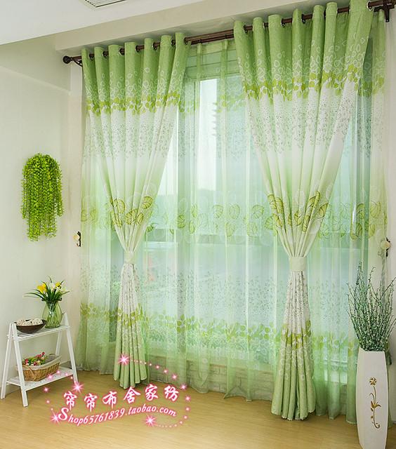 rustic romantic print multi-colored curtain bedroom