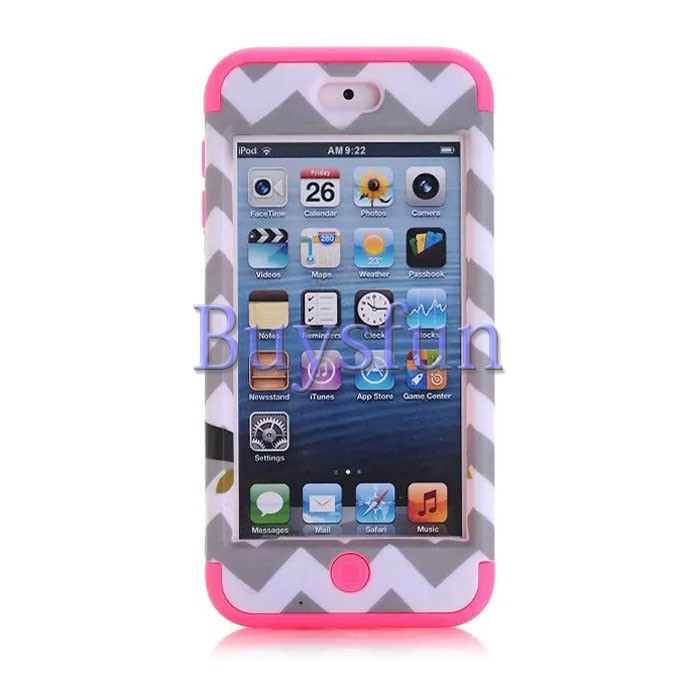 Owl Chevron Rugged Shockproof Rubber Hard Cover Case For iPod Touch 5 6