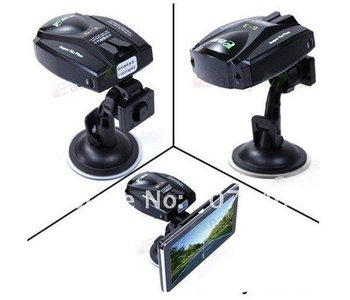 Hot sell Full Bands Car Radar/Laser Detector For Usage with Any GPS Navigation Player (support Russian)-free shipping