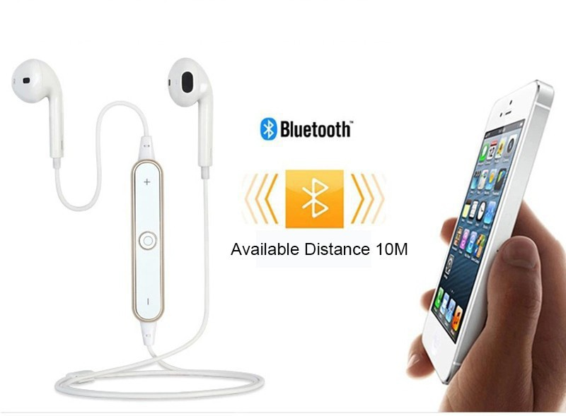 2016 Bluetooth Headset In-Ear Sports Headset S6 Stereo CSR 4.0 Wireless Earphone For iPhone Samsung HTC LG 2 Color Free Shipping