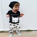 Free Shipping 2016 new arrive baby clothing set costume set t shirt pants 2pcs kid suit