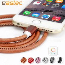 Bastec Super Strong Leather Metal Plug 20CM / 100CM Micro USB Cable for iPhone 6 6s Plus 5s 5 iPadmini / Samsung galaxy s6 etc(China (Mainland))