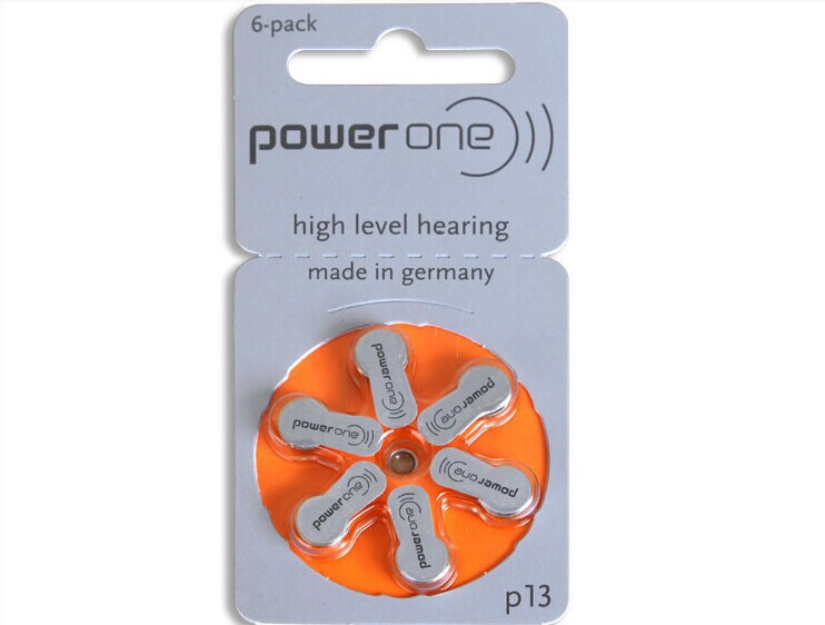 1pack(6pcs )Genuine PowerOne PR48 P13 A13 S13 zinc air button battery for Hearing aid(China (Mainland))