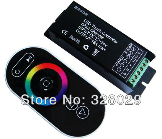 5 key Led RGB Controller Touch Panel Wireless RF Remote Controller DC12V 18A Output For SMD5050/3528 Led Strip Use Free Shipping(China (Mainland))