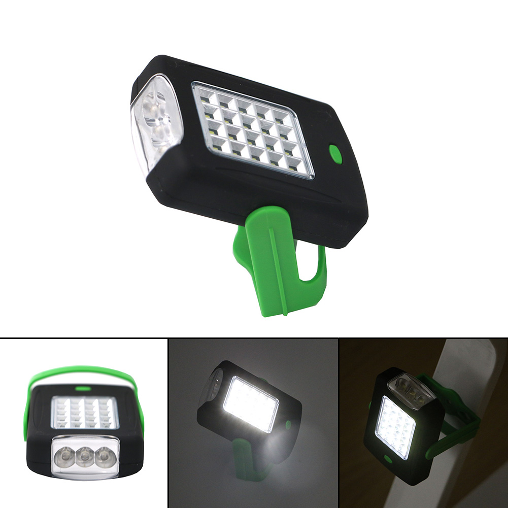 Hot 2-Mode 23*COB LED Flashlight Magnetic Working Folding Hook Tent Light Lamp Torch Linternas Lanterna Lamp By AAA Battery