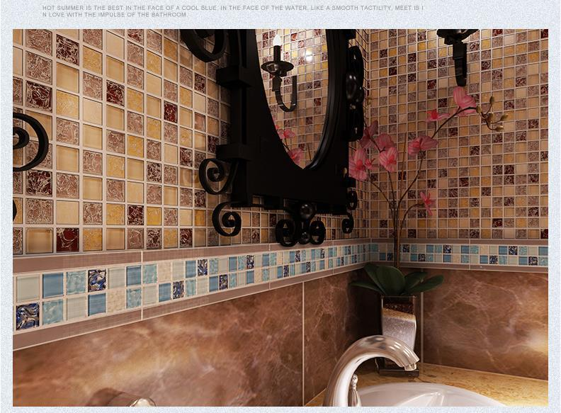 Deluxr Tv Background Wall Ceramic Tiles Decoration Glass Mosaic Ceramic Tile Borders Living Room TV Background Wall