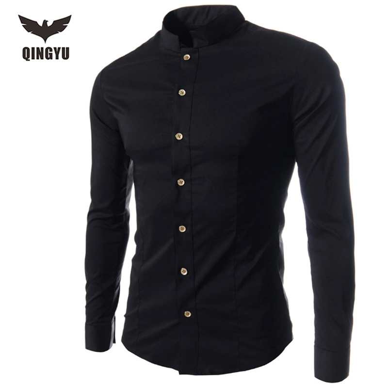 Men Shirt Luxury Brand 2016 Male Long Sleeve Shirts Casual