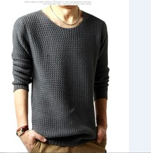 Relaxed-fit sweater pullover male winter knitting brand long sleeve with v-neck fitted sweater jersey size M-XXL(China (Mainland))