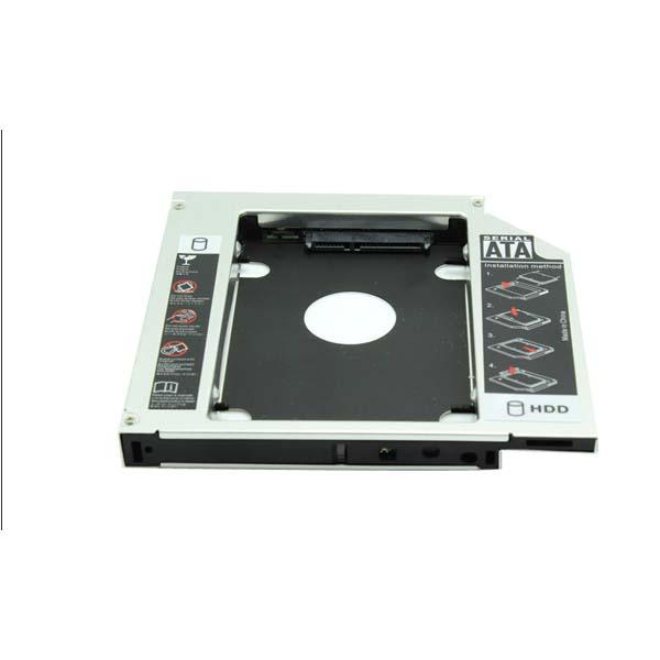 "12.7mm Second 2nd Caddy SATA to SATA 3.0 SSD HDD Case HD 2.5"" Hard Disk Driver External Enclosure For CD DVD Optical Bay Laptop(China (Mainland))"