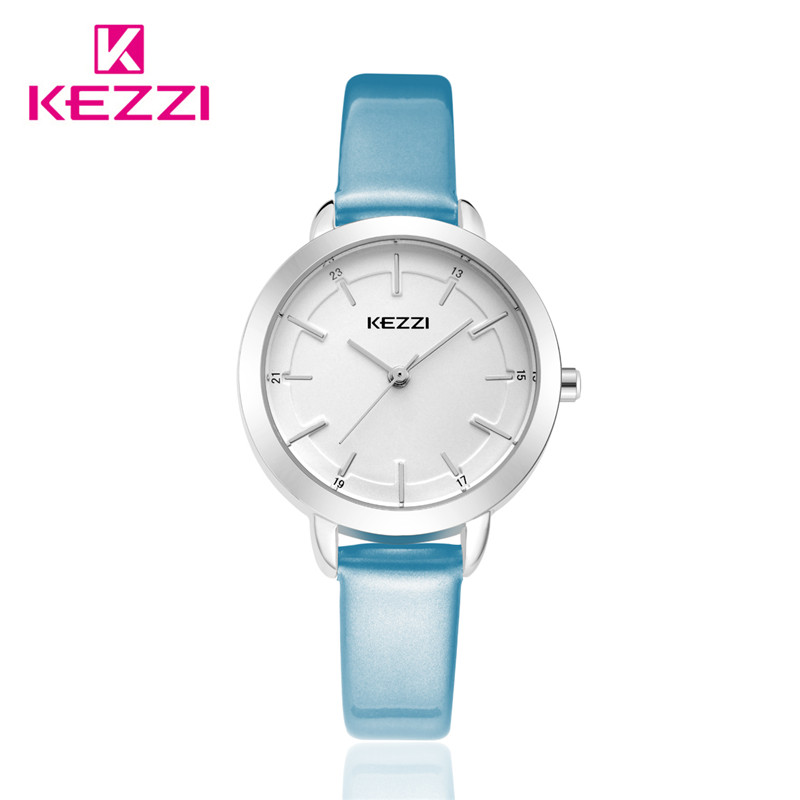 2016 kezzi top brand leather quartz watches