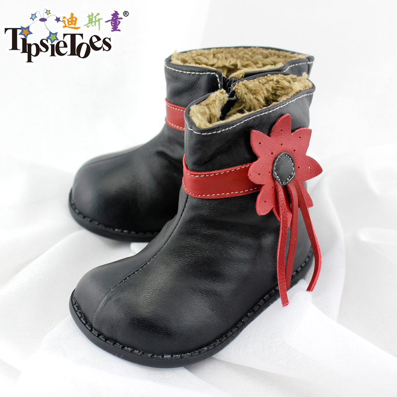 TipsieToes Brand High Grade Floral Genuine Leather Kids Boots Girls Shoes Children Shoes New 2014 Autumn Winter 22407<br><br>Aliexpress
