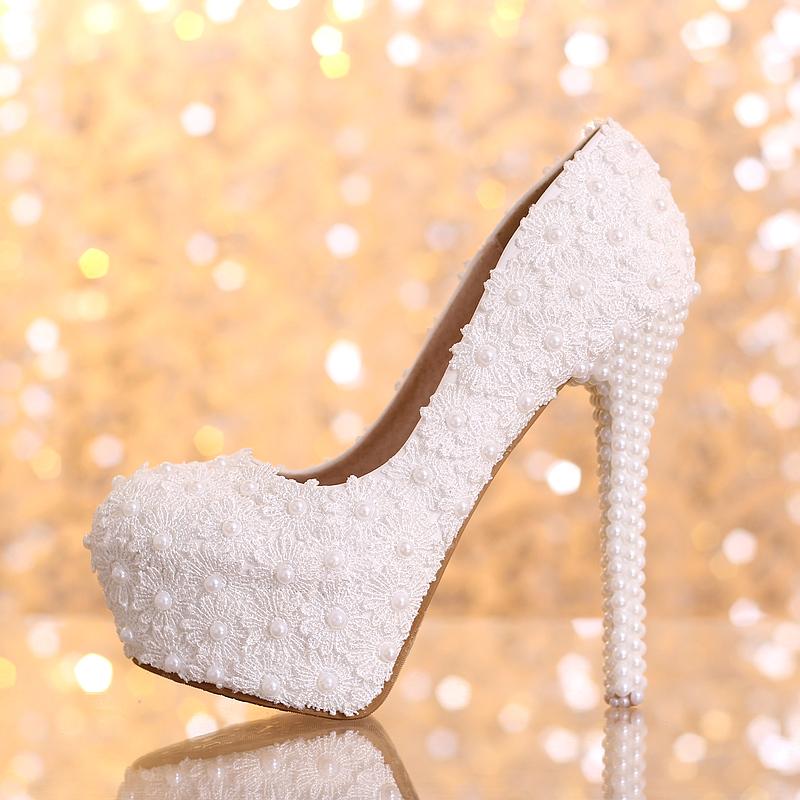 Womens Elegance Wedding Shoes Heels Platform Round Toe Heels Bridal White Pink Red Black<br><br>Aliexpress