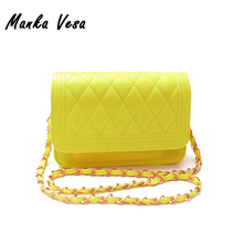 Manka Vesa New 2016 Women Messenger Bag Fashion women Handbag Quilted Fresh Girls Bags One Shoulder Small Women's Cross body Bag(China (Mainland))
