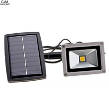 Solar Power LED FloodLight 10W Reflector Led Flood Light Spotlight Waterproof Outdoor Wall Lamp Garden Projectors(China (Mainland))