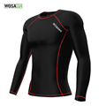 WOSAWE Mens Compression Base Layer Top Long Sleeve Bike Bicycle Cycling Jersey Running Fitness Gym Sports