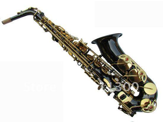 best WXH-818 J black body JinJian drop the alto saxophone E/wind/tube/paint the flower