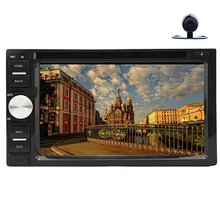 Buy Car Stereo 6.2'' In-dash headunit video In-dash Car DVD Player Stereo Radio Bluetooth MP3 MP4 RDS FM AM + Free rear View Camera for $139.99 in AliExpress store