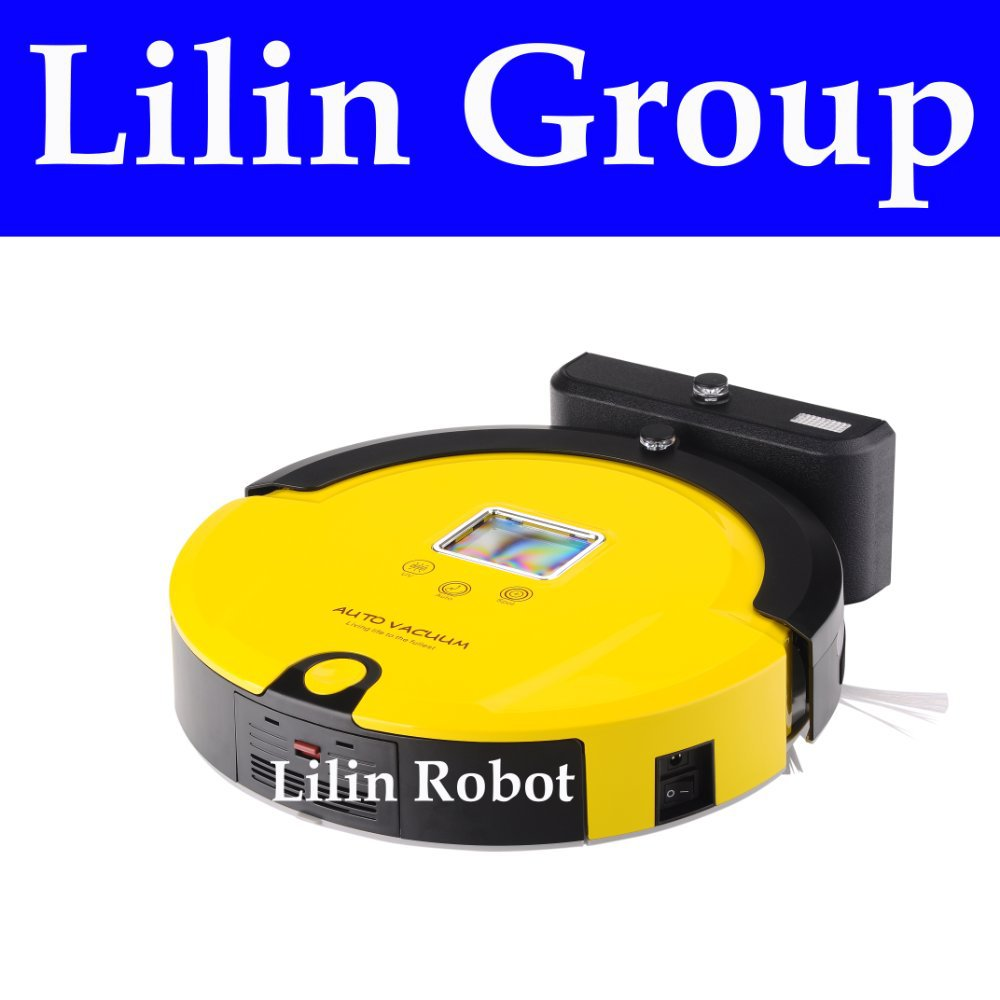 (Free to South Korea) 4 In 1 Multifunctional Robot Vacuum Cleaner (Sweep,Vacuum,Mop,Sterilize),LCD,Touch Button,Auto Charging(China (Mainland))