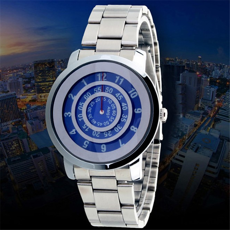 AMST Brand Turntable Watches Men Fashion Casual Quartz Men's Watch Student Relogio Masculino 2017 Unique Male Clock Special Man(China (Mainland))