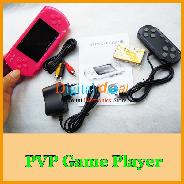 With Free Game Card and Joystick PVP Crash 9 Handheld Game Player PVP Station 8 BIT Video Games Console!200pcs/lot(China (Mainland))