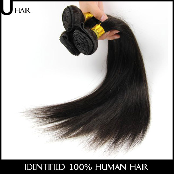 Unprocessed Natural Black Brazilian Virgin Hair Straight 6PCS 8-30 100% Human Hair Straight Weave Tissage Bresilien 1SF01<br><br>Aliexpress