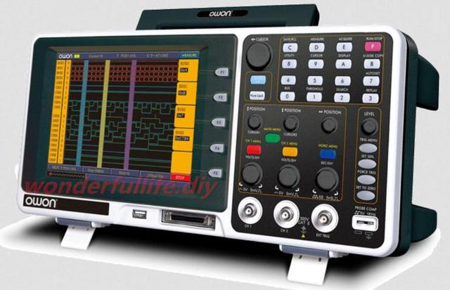 Owon Oscilloscope Display : Owon quot tft lcd display digital storage oscilloscope usb