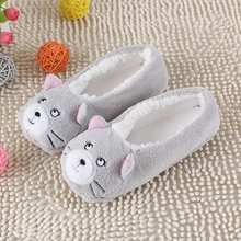 2016 New Warm Soft Sole Women Indoor Floor Slippers/Shoes Animal Shape White Gray Cows Pink Flannel Home Slippers 6 Color(China (Mainland))