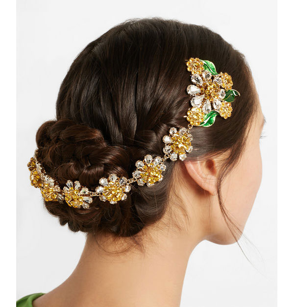 2016 fashion baroque hair combs spring new enamel crystal gems hair band High-end crystal flower hair combs bride hair jewelry(China (Mainland))