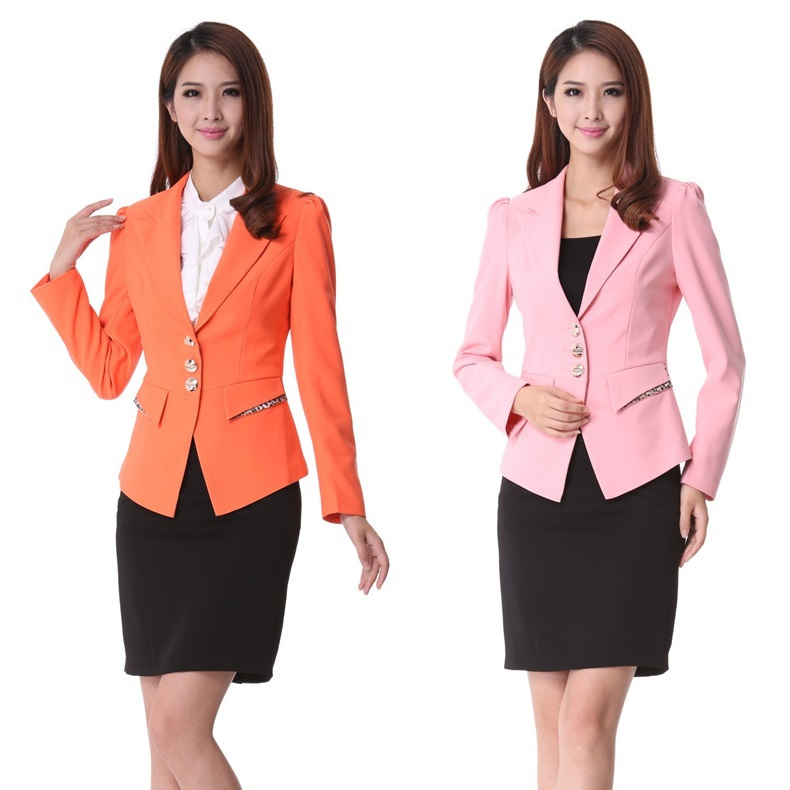 New 2015 spring formal ladies office uniform design for for Office uniform design 2014