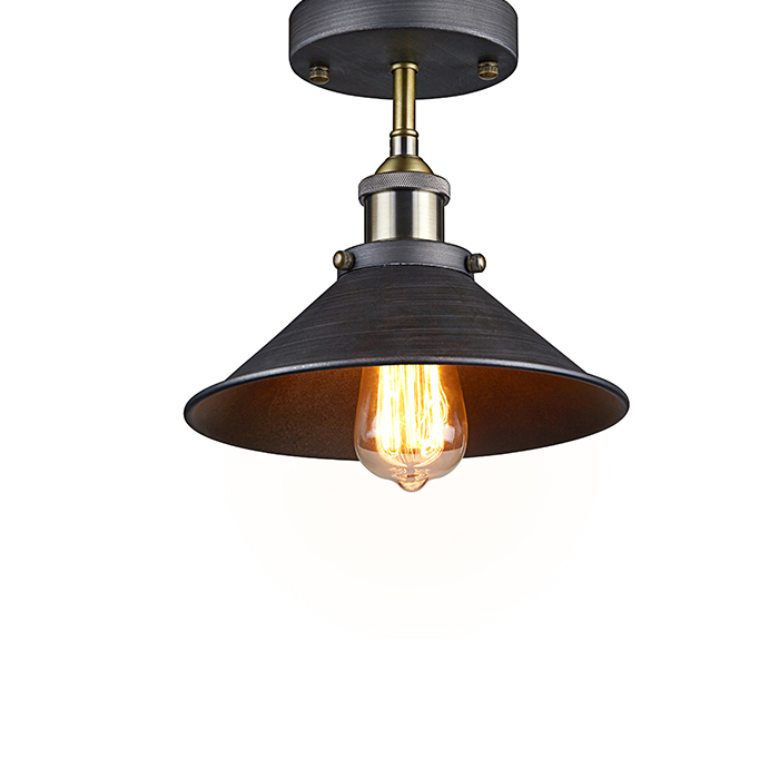 vintage american light industrial edison pendant lamp wrought iron. Black Bedroom Furniture Sets. Home Design Ideas