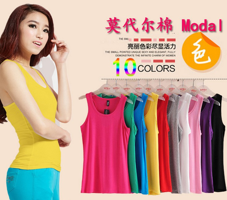 Candy color 2015 summer Women Vest Tops female debardeur Multicolor Sleeveless fitness Sport Temperament Cotton Tank Top 8272 - Beijing Sanchy shoes co., LTD store
