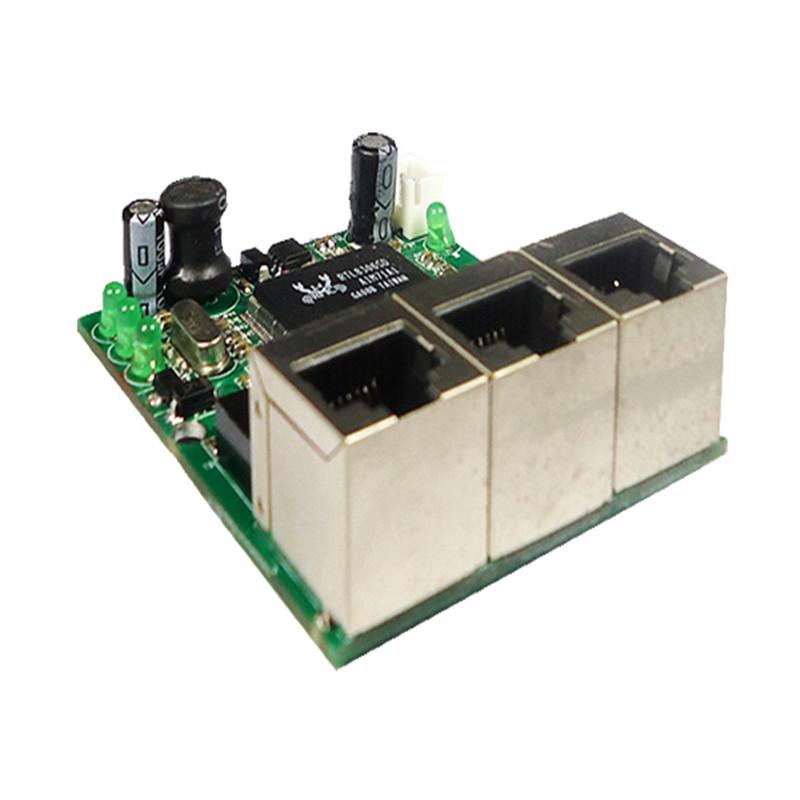 Buy realtek chipset rtl8306e mini 10 100mbps rj45 lan hub 3 port ethernet - Mini switch ethernet 3 ports ...