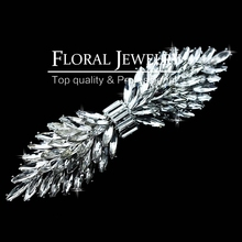 New 2015 Leaf Crystal Imitation Gemstone Bridal Hair Combs Bowknot Hairgrips Wedding Hair Accessories Hair Jewelry