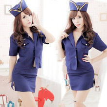 Buy Sell well COSPLAY Policewoman/flight attendant costumes Sexy lingerie women costumes Sex Products toy Sexy underwear Role play