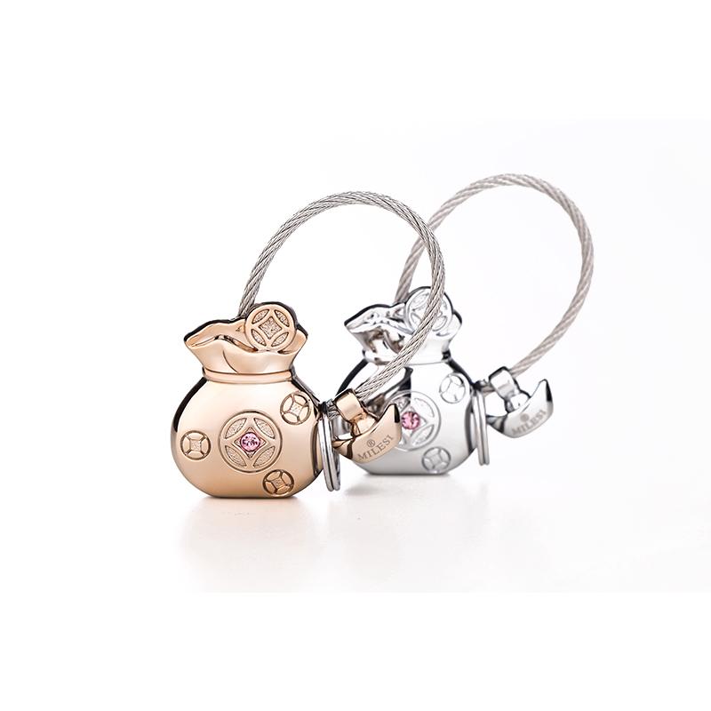 Milesi metal keychain Novelty Souvenir Key Chain Creative Gifts Key Ring Trinket llaveros chaveiro carro porte clef K0195(China (Mainland))