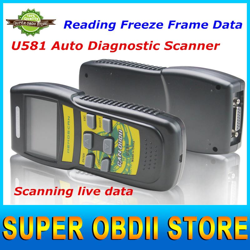 2015 Hot selling U581 AUTO Diagnostic CAN OBDII Reade Update ON Internet OBD2 Code Reader Memoscan U581 Work on Multi-brand Cars(China (Mainland))