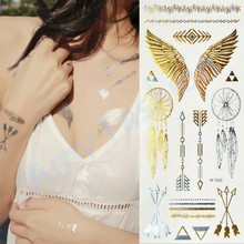 1Pcs Body Paint makeup gold tattoo flash tattoos temporary tattoo makeup metalic tatto body bronzer maquillaje face paint(China (Mainland))