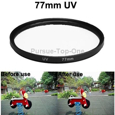 10 Pcs/Lot Digital Camera Accessories 77mm SLR UV Filter(China (Mainland))