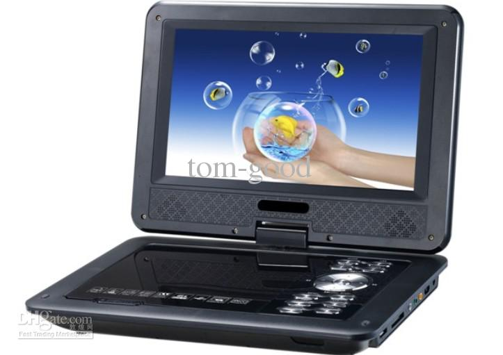 """free shipping 9.8"""" Portable EVD DVD Player TV USB SD Games JPG Picture Radio Swivel LCD Screen(China (Mainland))"""