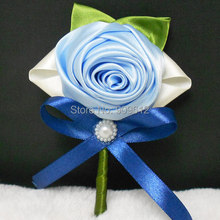 2015 NEW 6PCS / LOT Wedding bridegroom Boutonniere Man Corsage  Rose Groom Party Prom brooch Decorations