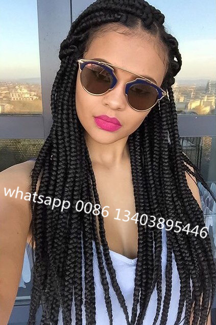 3S Box Braid Synthetic Senegal Twist Braids 20 roots/piece 18INCHES hAVANA Twist Crochet Hair Extensions Bohemia Style<br><br>Aliexpress